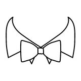 Figure sticker bow tie with shirt icon. Illustraction design Royalty Free Stock Images