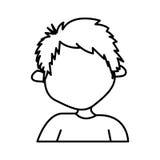 Figure sticker boy icon Royalty Free Stock Photos