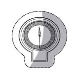 Figure sticker clock icon Stock Photography