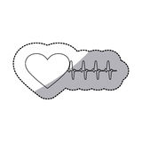 Figure sticker heartbeat icon Stock Photos