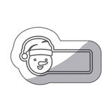 Figure sticker poster snowman icon. Illustraction design Royalty Free Stock Image