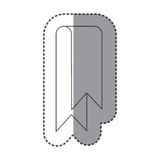 Figure sticker ribbon icon. Illustraction design image Royalty Free Stock Photography