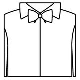 Figure sticker shirt with bow tie icon. Illustraction design Stock Images