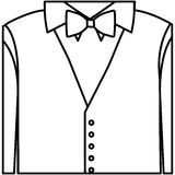 Figure sticker shirt with bow tie and waistcoat Stock Photography