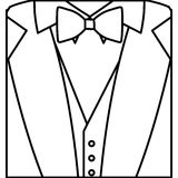 Figure sticker suit with bow tie icon. Illustraction design image Royalty Free Stock Images