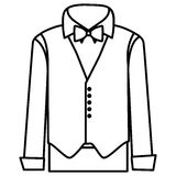 Figure sticker suit with shirt, waistcoat and pants. Illustraction design Stock Image