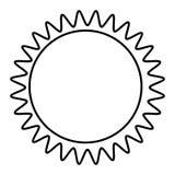 Figure sticker sun icon. Illustraction design image Stock Photo