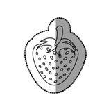 Figure strawberry fruit icon stock Stock Photo