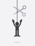 Figure String Scissors Stock Photo