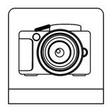 Figure studio professional camera icon Stock Photo