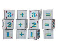 Figure sui cubi Fotografia Stock