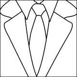 Figure suit with elegant tie icon. Illustration Royalty Free Stock Photo