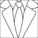 Figure suit with elegant tie icon Royalty Free Stock Photo