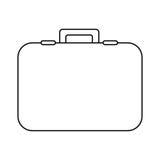 Figure suitcase icon image. Illustration design Stock Photo