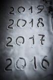 Figure 2017 sulla neve Tema di Natale e del nuovo anno modificato Immagini Stock Libere da Diritti