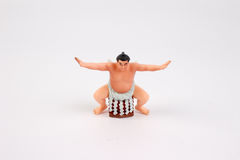 The figure of Sumo Wrestler. With white board Stock Photos