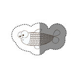 Figure surprised balloon fish cartoon icon Royalty Free Stock Photo
