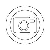 Figure symbol camera icon Stock Photos