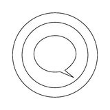 Figure symbol with chat bubble icon Stock Images