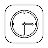 Figure symbol clock icon. Illustraction design image Stock Photos