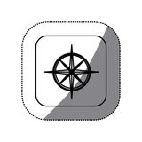 Figure symbol compass icon. Illustraction design Stock Photos