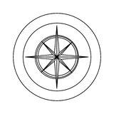 Figure symbol compass star icon. Illustraction Royalty Free Stock Image