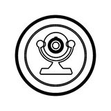 Figure symbol computer camera icon. Illustration design Stock Photo