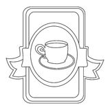 Figure symbol cup with plate icon Royalty Free Stock Photo