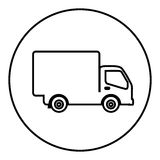 Figure symbol delivery car icon Stock Photography