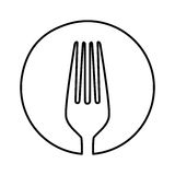 Figure symbol fork tool icon Royalty Free Stock Photos