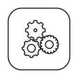 Figure symbol gears icon Royalty Free Stock Images