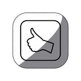 Figure symbol goodhand icon Royalty Free Stock Photography