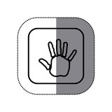 Figure symbol hand icon. Illustraction design image Stock Photography