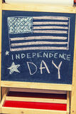 Figure symbol of the independence day of America on the drawing Stock Image