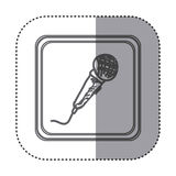 Figure symbol microphone instrument icon Stock Image