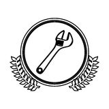 Figure symbol monkey wrench icon Royalty Free Stock Images
