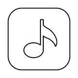 Figure symbol music icon Royalty Free Stock Images