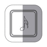 Figure symbol music sign icon Stock Photography