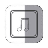 Figure symbol music sign icon Royalty Free Stock Image