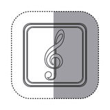 Figure symbol music sign icon Stock Image