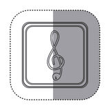 Figure symbol music sign icon. Illustration design Stock Photography