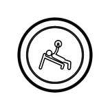 Figure symbol person lifting weights gym. Illustration image Stock Photo