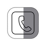 Figure symbol phone icon. Illustraction design Royalty Free Stock Photography