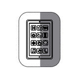 Figure symbol picture shelving icon. Illustraction design Royalty Free Stock Image