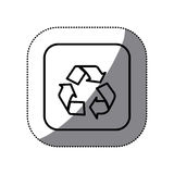 Figure symbol recycle icon. Illustraction design Royalty Free Stock Photography