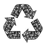 figure symbol reuse, reduce and recycle icon Royalty Free Stock Image
