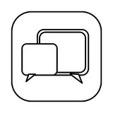 Figure symbol square chat bubbles icon. Illustraction design Royalty Free Stock Photos