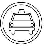 Figure symbol taxi front car icon. Illustration design Stock Images