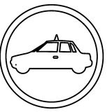 Figure symbol taxi side car icon. Illustration design Stock Photography