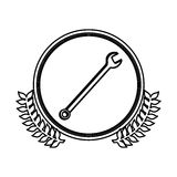 Figure symbol wrench icon image Royalty Free Stock Images